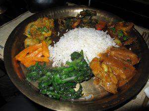 Sample of Menu for Nepali cooking class Daal (Lentil Soup) Bhat (Cooked White Rice) Tarkari (Spiced Vegetables) Saag (Green Leafs) Dahi (Yogurt) and Chiya – Mansala tea. MOmo making ( optional) Paratha bread making ( optional) Chapati bread making ( optional)