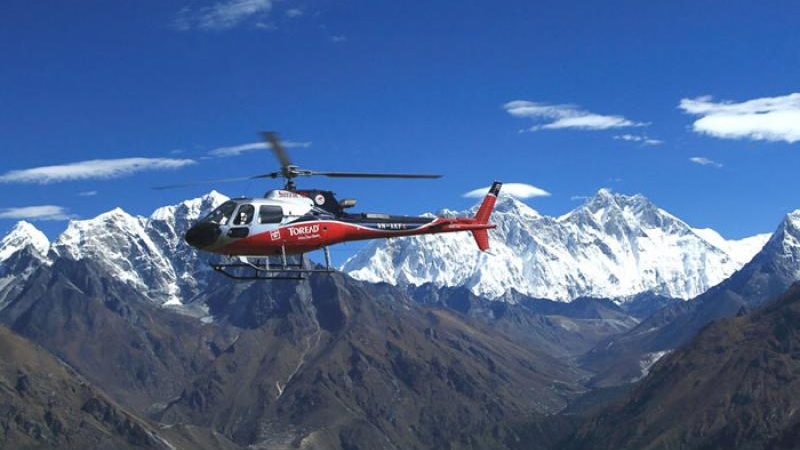 everest base camp trek helicopter
