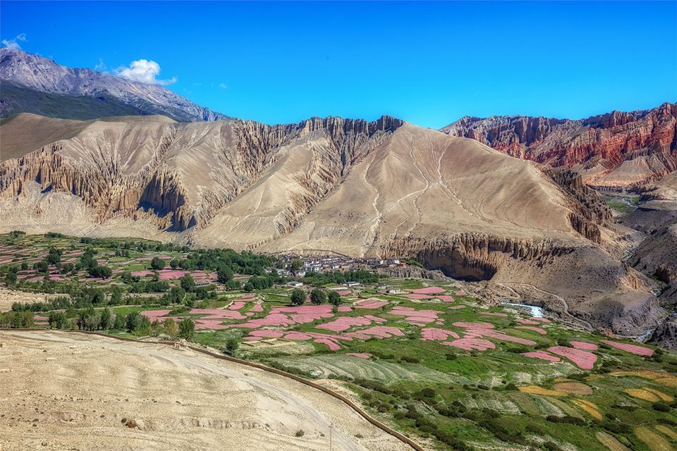 Nepal Upper Mustang Region Upper Mustang Trek Route In
