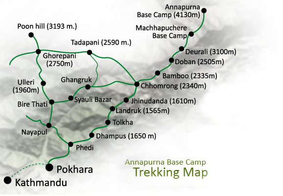 Annapurna Base Camp Trek 2021 ( Itinerary-Cost-Solo) Guide, Map, Route,  Price and Distance | Nepal Trekking, Hiking, Tour & Climbing Guide  Information