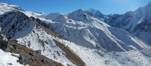 Yala Peak is a mountain in the Langtang area in Nepal. It is considered a trekking peak by the Nepal Mountaineering Association, and is a relatively simple, non-technical climb