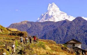 Spring Trekking Seasons in Nepal February ,March , April and May 2017 Nepal has tremendous variation in climates. The lowland plains are tropical, the midland hills are temperate, and the high mountains have sub-arctic and arctic conditions. For trekkers, the fall and the spring offer the best clarity (mountain v
