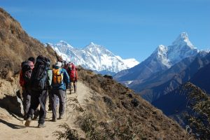 """Everest Base camp trek and hike is more than a mountain and the journey to its base camp is more than just a trek. Along a route dubbed by some as """"the steps to heaven,"""" every bend in the trail provides another photo opportunity – beautiful forests, Sherpa villages sherpa cultures , glacial moraines, and foothills. For active adventurers not afraid to break a sweat, our full trekking support staff will bring you close to local cultures before opening a window to the top of the world."""